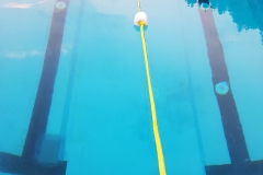 Separate Schwimmbahn