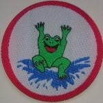Jugendschwimmabzeichen Frosch Lasergeschnitten rund bei www.schwimmbad.so